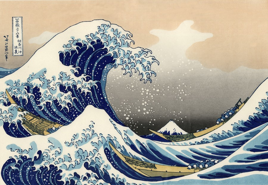Year Six - The Great Wave by Hokusai