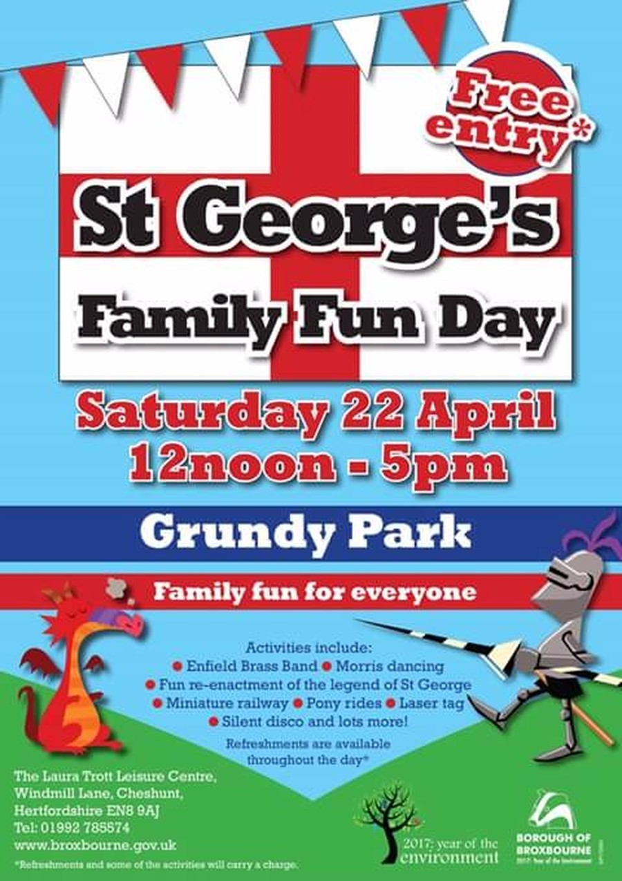 come and see us at the st. georges day fete this saturday 22nd april - make a shield/hook a duck