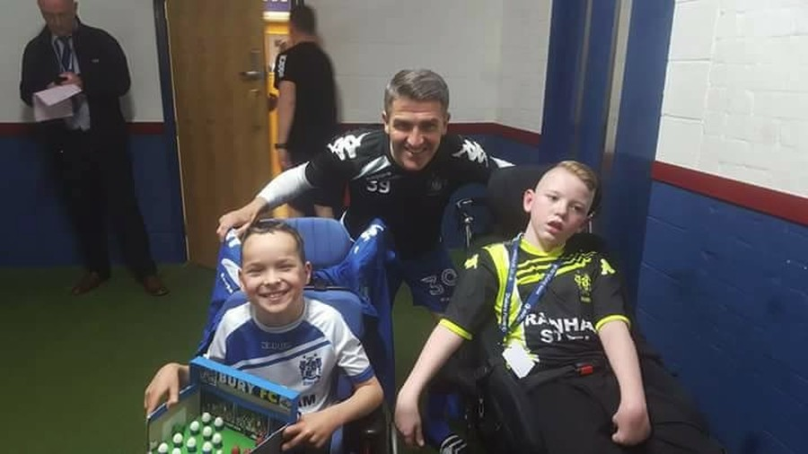 Jack and Rocket visit Bury FC