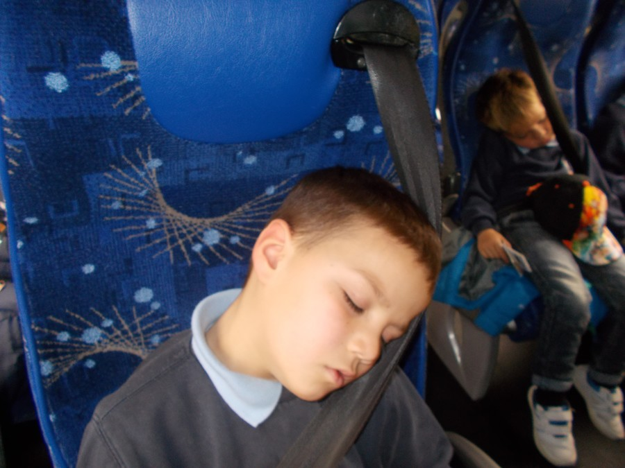 Finally it was back on the coach where some children nodded off, exhausted by the exciting day!