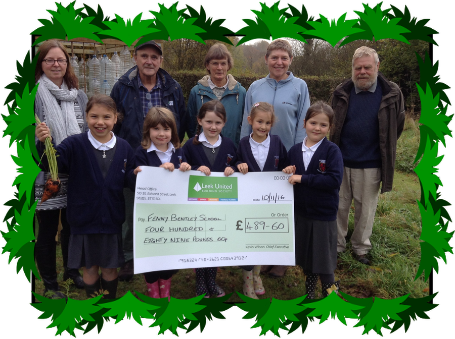 The local Dovedale Dash charity have donated £489.60  to support our outdoor learning. Look at our wonderful carrots!