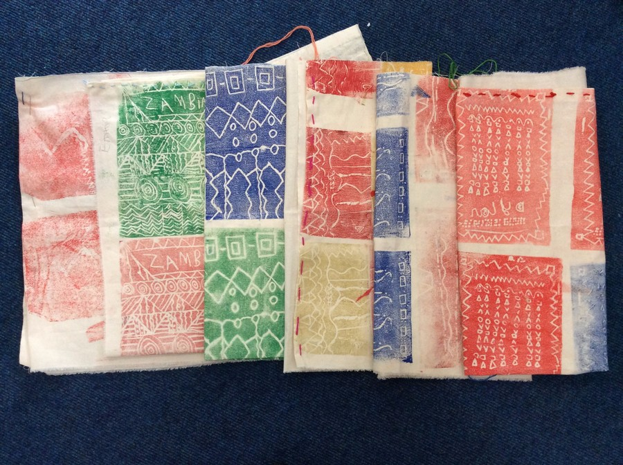 We've been designing, printing, measuring and stitching...The Zambian cushions are almost complete!