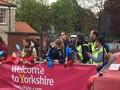 Tour de Yorkshire on the bridge