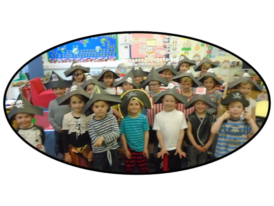 Pirate dressing up day for Walk the Plank topic