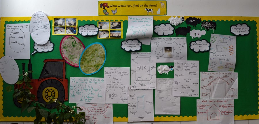 Our Nursery Learning Challenge Board Spring 2