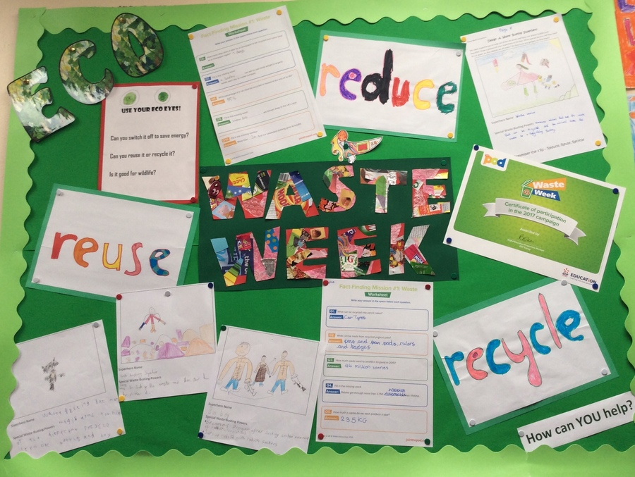 Some of our Waste Week work.