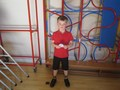 Jack received his karate trophy so well done to him!