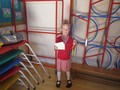 Lexie was awarded with both a swimming certificate and a football medal. She's a very busy girl!