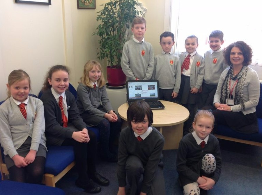 Student Council meet with Mrs Sinclair – Headteacher to discuss the school's Behaviour Policy
