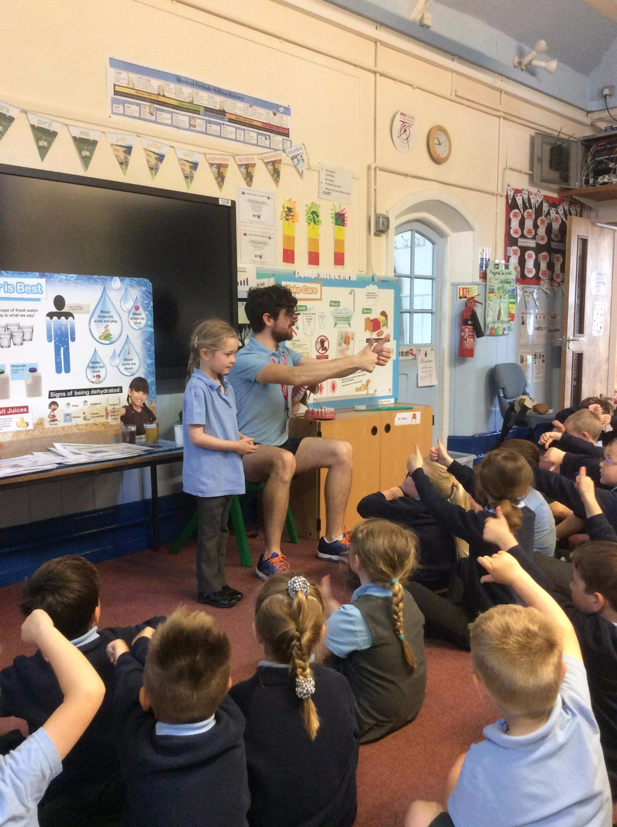 A-Life came into school on 12th May to teach us about Healthy Living. We did lots of fun activities learning about our body and what we should eat and drink to stay healthy, as well as a fun fitness session too! Have a look at the slideshow below...