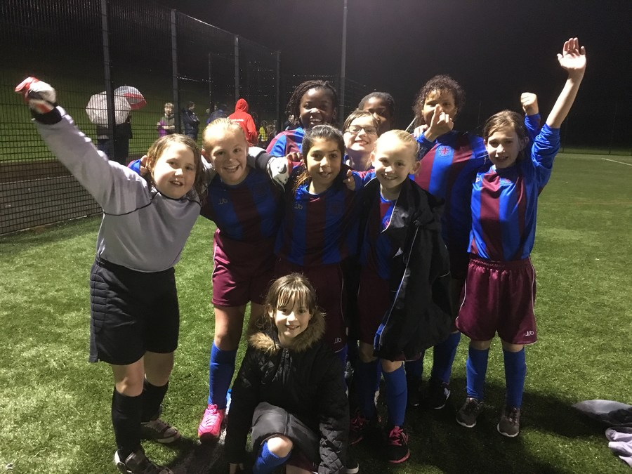 Our Girls' Football Team at a recent level 2 tournament.