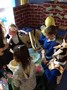 We listened to the story of Jack and the beanstalk, then recreated it in our role play area