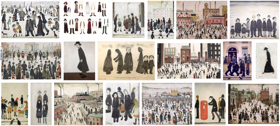 Google found lots of people drawn by Lowry for us.