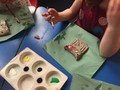 Painting our clay owls