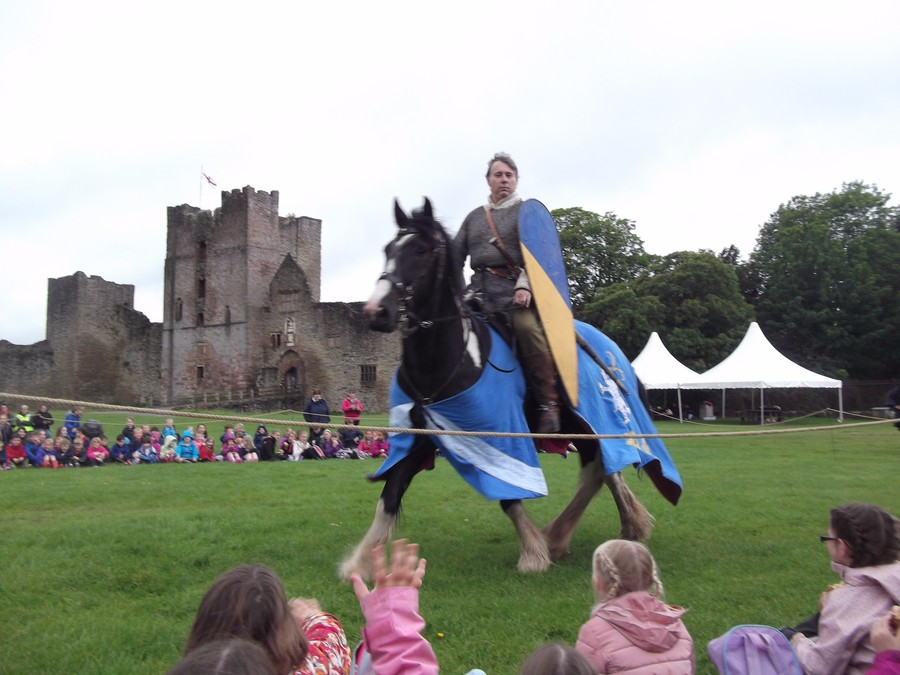 The organisers put on a play for us at lunch time about a knight coming to the castle to demand the release of a prisoner.