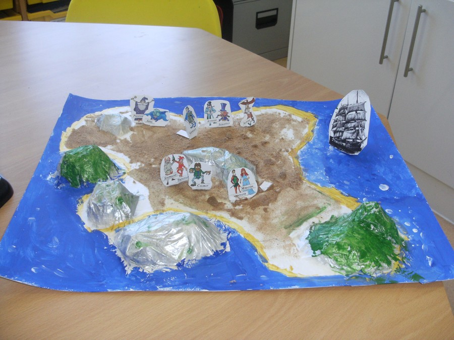 Aaron enjoyed creating Prospero's island.