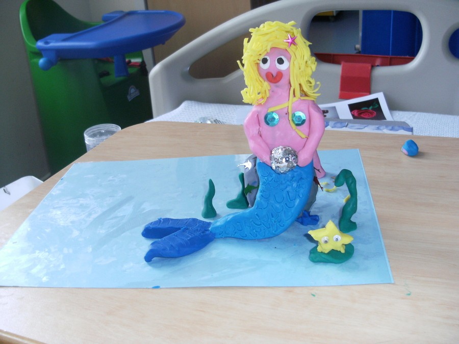 Lauren has created a beautiful mermaid.