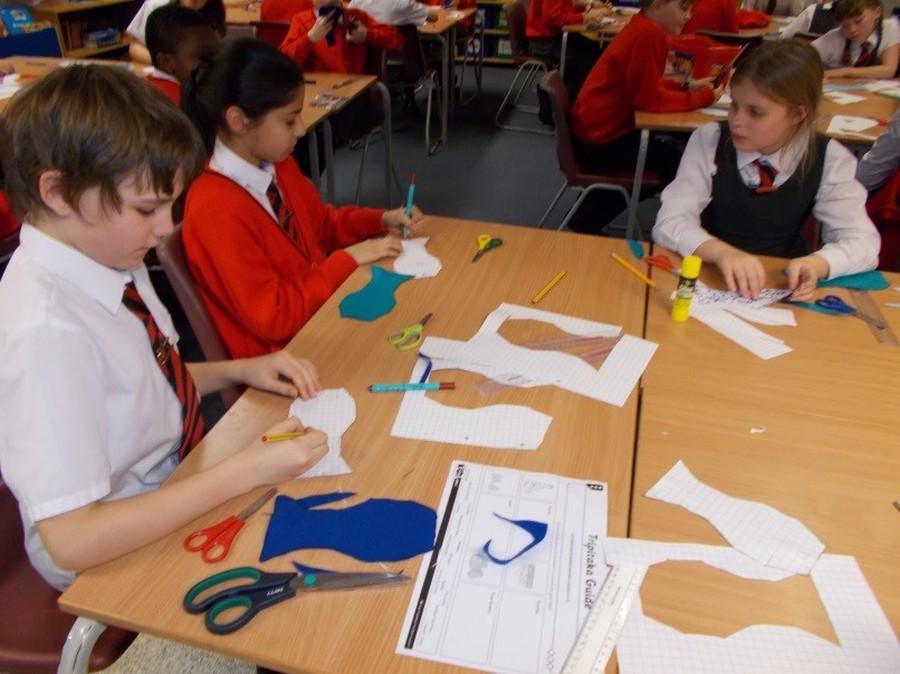 Tessellating fish in art