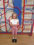 Belle shared her certificate with us from Stanwix Park as she had taken part in their talent show.<br>