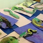 clay painted snakes