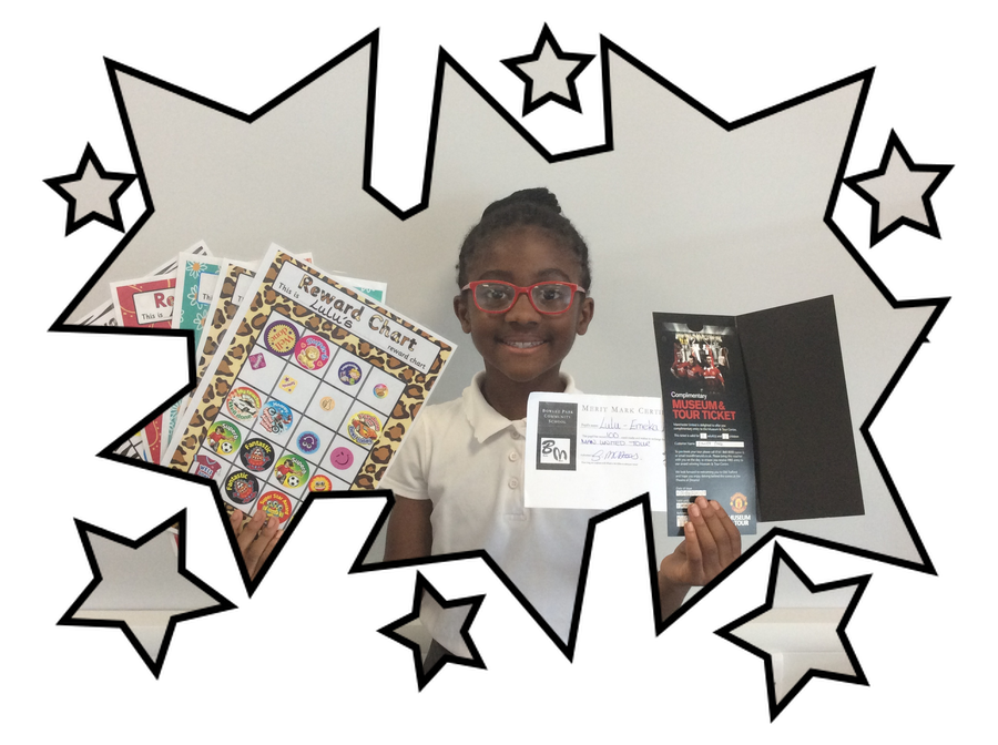 Well done to Oluchi who is the first child to reach 100 merit marks. The reward for this fantastic achievement is a stadium tour of old trafford. Well done.