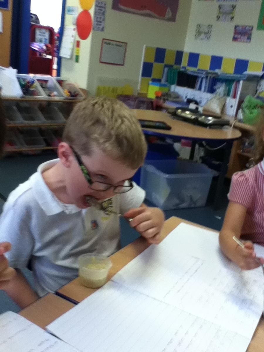 Porridge tasting.