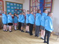 Year 6 wearing their lovely, new leaver's hoodies<br>