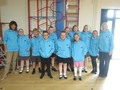 Special 'early retirement' leavers hoodies were also presented to Ms Ford and Mrs Wilson<br>