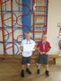 Harry and Jamie received medals and trophies from Broughton Rugby Club following a game where they both scored 5 tries!<br>