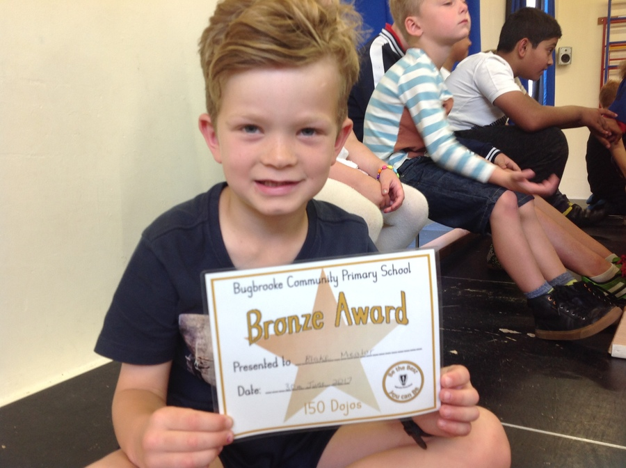 Our first Bronze Dojo winner