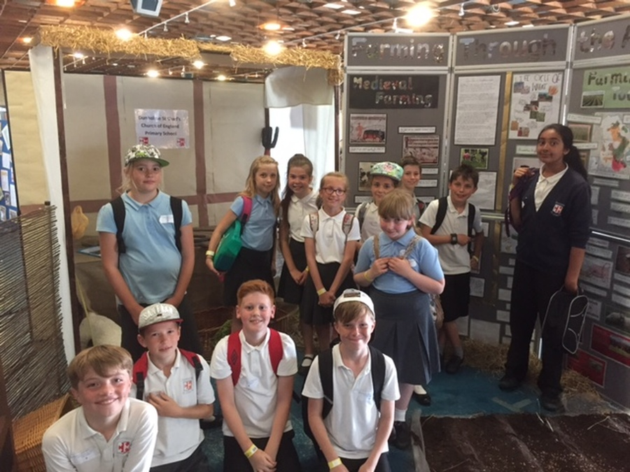 Year 6 at the Lincolnshire Show where we came in Third Place.