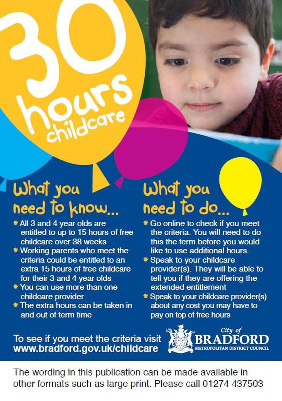 30 hours free childcare for 3 year olds
