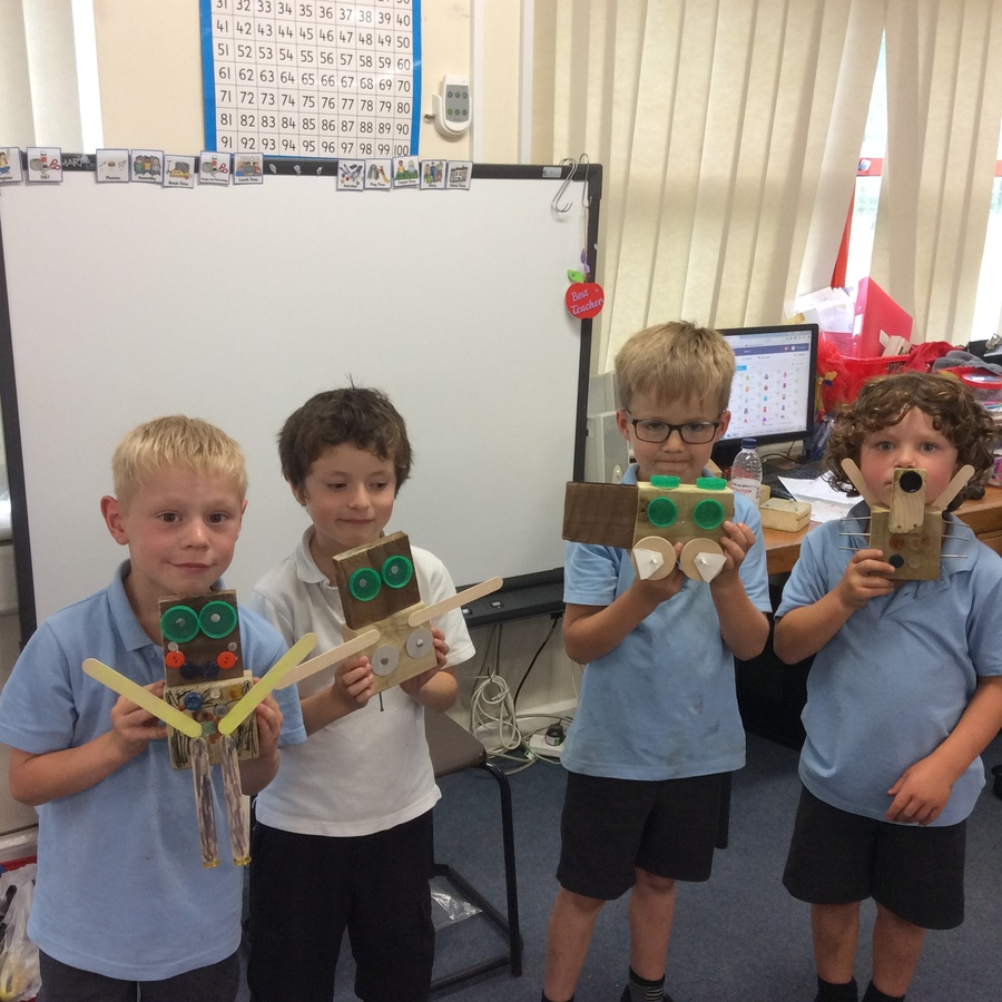 We had a DT day where we learned to use hammers safely.  We all designed and made our own models or pieces of artwork.