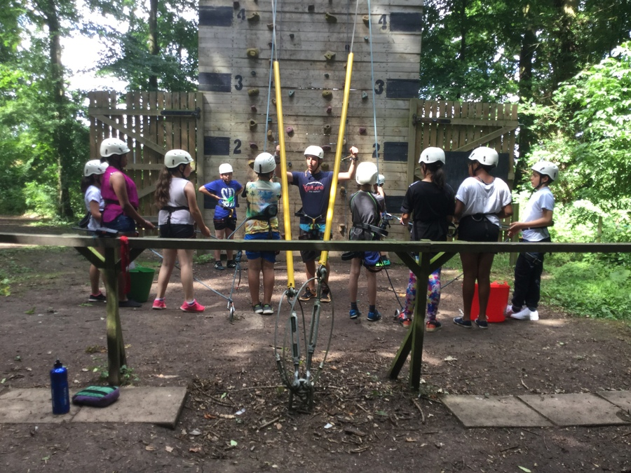 Wall climbing - this group scored 5/5 for attitude and respect!