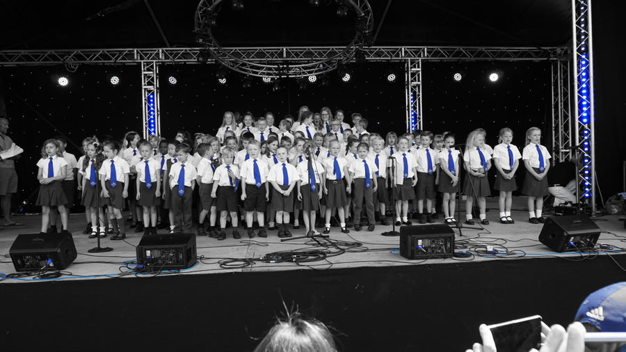100 Birchwood Children formed the MH100 Choir. Their performance dazzled the local community