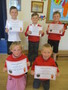 These children earned the most points for participatin