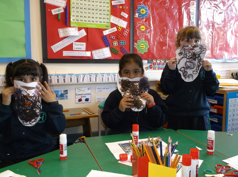 Year 1 had great fun making Mr. Twit's beard!