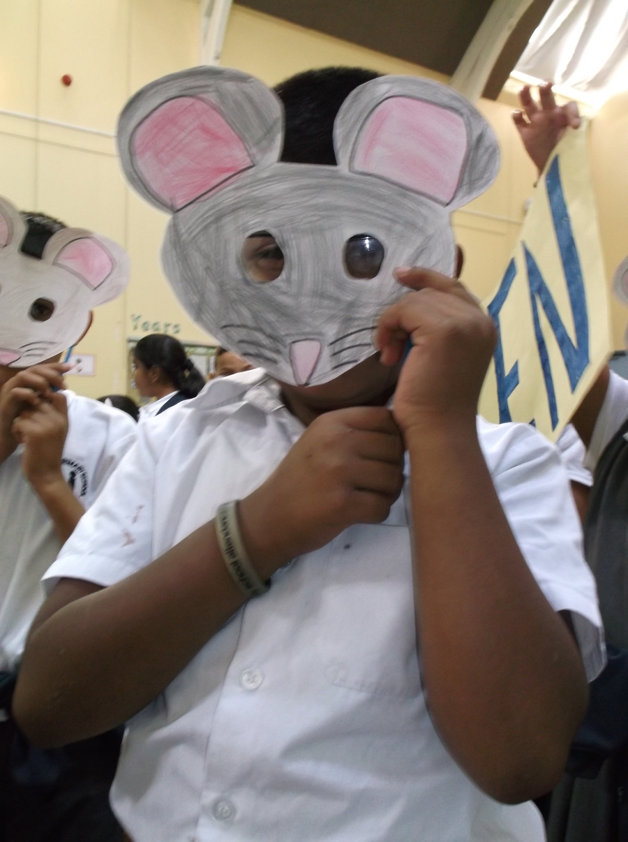 Year 3 were turned into mice by The Witches!