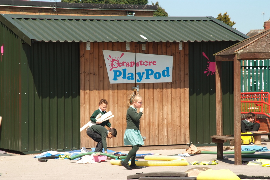 Play Pod. The children access this every lunchtime.