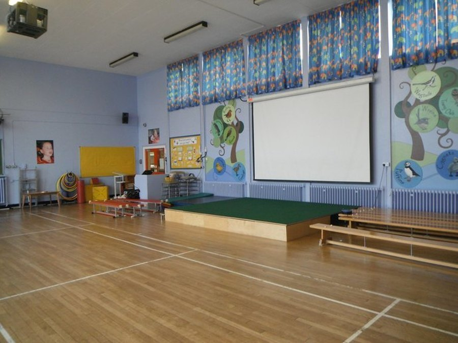 School Hall. We have our assemblies and do P.E in here.
