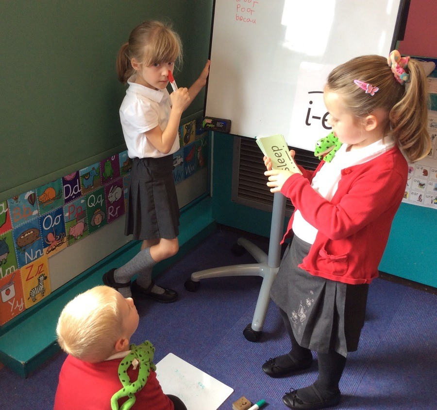 Playing at teachers is a great way to learn.