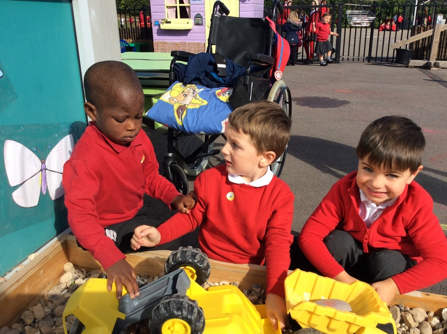 Nursery is a great place for budding builders.
