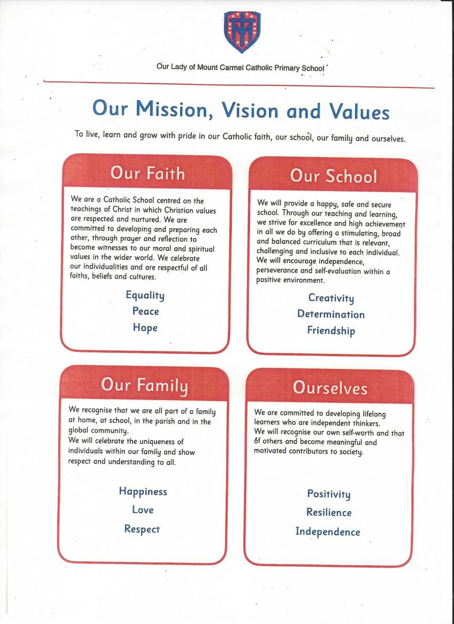 Our Mission and Vision Values