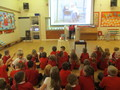 We listened to our story in Whole class Assembly