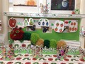 Nursery book display on The Very Hungry Caterpillar