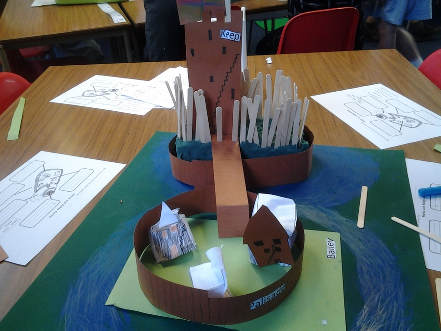 Making Motte and Bailey castles for D.T and history