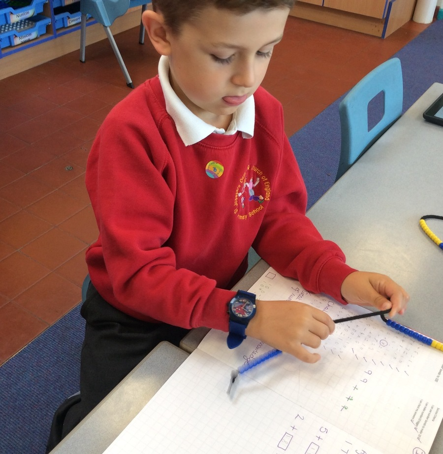 Concentrating hard!