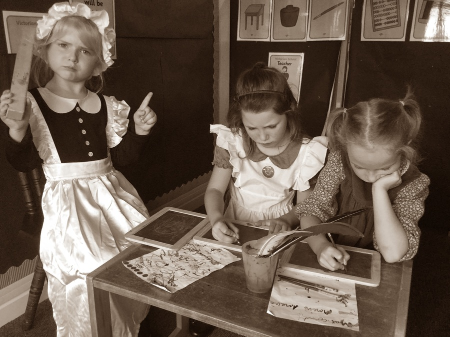 Reception pupils - History Day - A Victorian Classroom