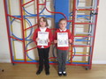 <p>Well done Anya and Lauren on gaining a</p><p> library Reading Challenge certificate</p>