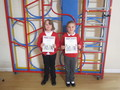 Anya and Lauren completedthe summer reading challenge